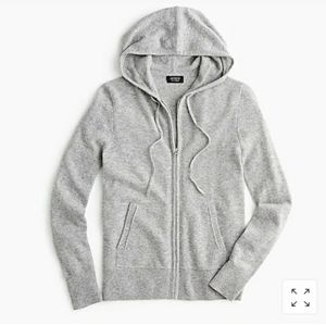 J crew every day cashmere zip down hoodie